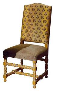 Gallicano ME.0982, '600 silla italiana, tapizado, para hoteles y restaurantes