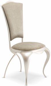 Ghirigori Silla acolchada, Elegante silla de comedor acolchada