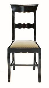 Grosseto ME.0964.T, Silla de madera de nogal con asiento tapizado, en estilo clásico