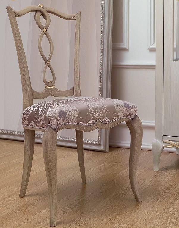 Silla de estilo clásico, en madera con asiento tapizado, para el ...