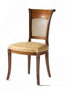 Lyon VS.1208, Silla de la nuez, asiento tapizado, respaldo de paja de Viena, para vivir en estilo clásico