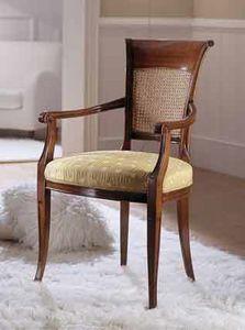 M 606, Silla con respaldo de caña para salas de estar clásicas