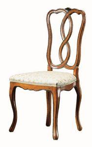 Modigliani RA.0987, Silla de madera de nogal, estilo '800, para los comedores cl�sicos