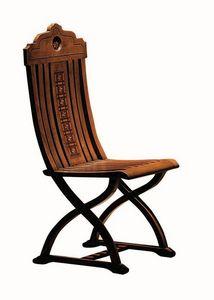 Orbetello ME.0977, Silla con incrustaciones de madera de nogal, para salones cl�sicos