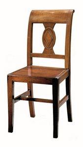 Piombino ME.0961.L, Silla hecha enteramente de madera, de estilo clásico