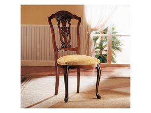 ROYAL NOCE / Chair, Silla de madera con asiento tapizado para el comedor