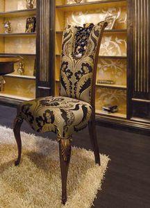 Royal silla, Silla de comedor clásica, con preciosas tallas