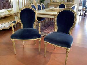 Silla 1445 estilo Luis XVI, Silla de comedor de estilo clásico