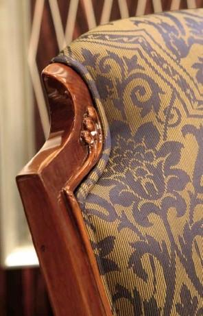 Silla Impero, Silla de madera acolchada clásico con respaldo alto