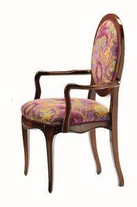 Verrocchio RA.0994, La cabeza de la silla de mesa en madera de nogal, ronda de vuelta, clásico