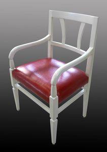 Fivizzano ME.0974.T-0, Silla de comedor de nogal de estilo del siglo XVIII con asiento acolchado