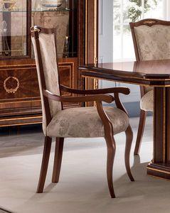 Modigliani silla con reposabrazos, Chiar con reposabrazos para comedor.