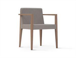 New York 631N, Silla con brazos, con asiento tapizado y respaldo