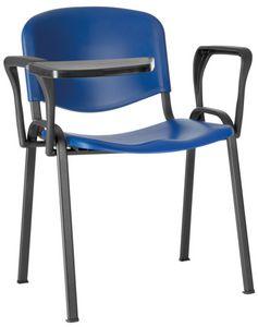 Conferenza polipropileno, Silla para sala grande, ahorro de espacio, con asiento de polipropileno