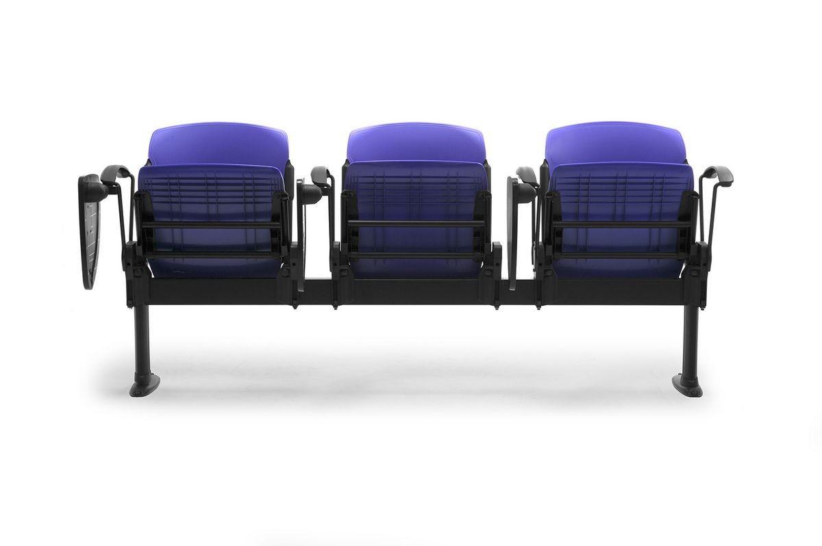 Cortina mixed bench, Banco con asientos reclinables tapizados, para universidades