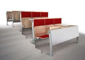 EVOLUTION, Sistema de sillas y mesas, con paneles que absorben el sonido, para aulas y salas de conferencias