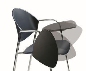 DELFI 085 TDX, Silla de metal, asiento de polímero, con escritorio