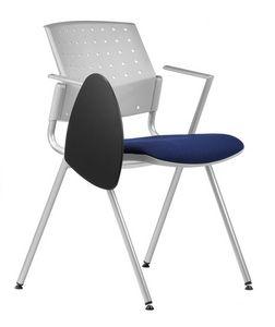 NESTING DELFIBRIO 065 TDX, Silla con asiento acolchado, base de metal, atril