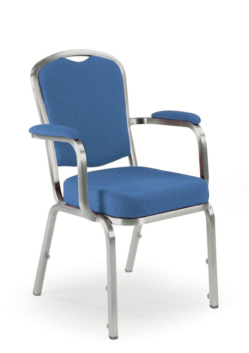 Fiora 60/5A, Silla con brazos, banquetes y conferencias, apilable