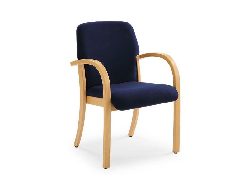 Kali 68501, Sillón en madera con asiento y respaldo tapizados