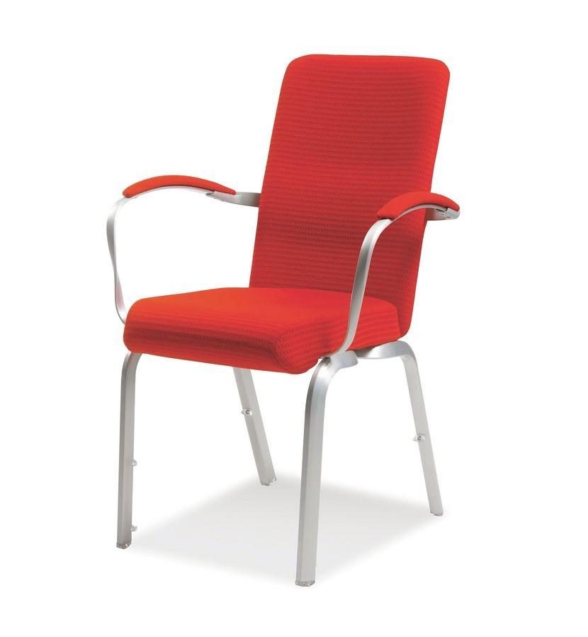Orvia 12/3A, Silla acolchada cómoda para conferencias, incombustible, apilable