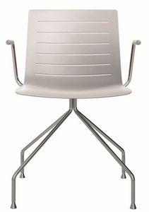 Slim 03A, Silla con brazos ideal para sala de reuniones