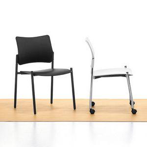 Urban 01, Silla apilable de acero, asiento y respaldo de polipropileno