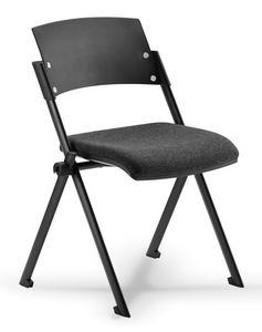 Comoda 01, Silla apilable con asiento plegable, para sala de conferencias