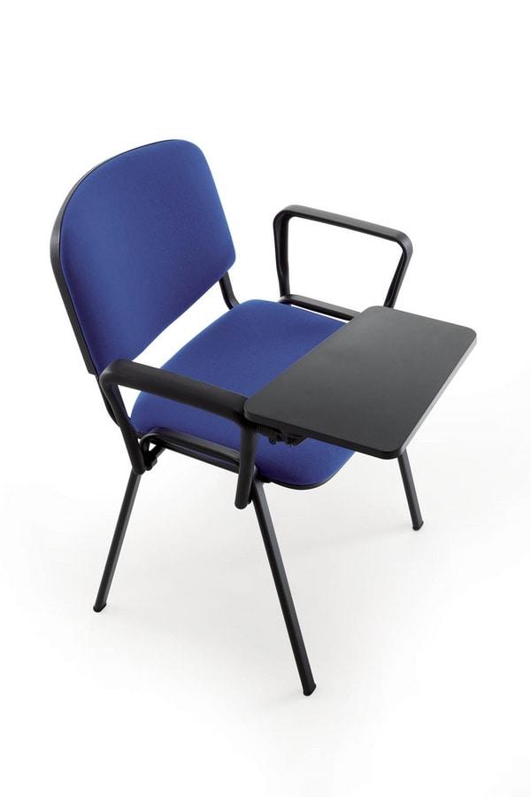 UF 100, Silla de metal, acolchado, para sala de conferencias