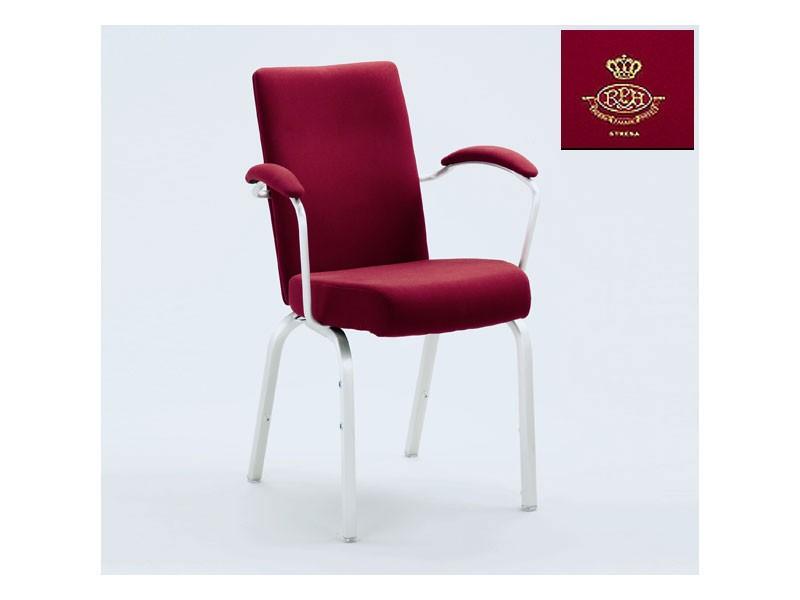 Vario-Allday 21/4A, Silla de conferencias moderna, asiento anatómico, apilable