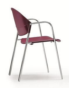 DELFI 085, Silla apilable con asiento y respaldo de copolímero