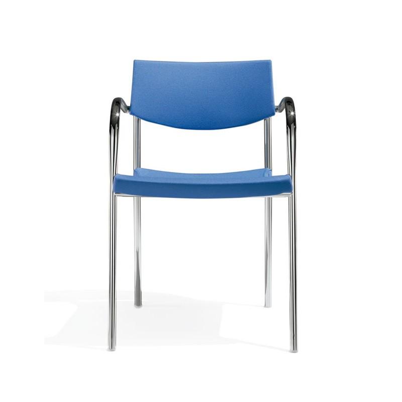 Klic, Silla de metal, apilable, para la sala de conferencias y de reuniones