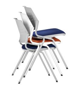 NESTING DELFIBRIO 063, Silla apilable con asiento acolchado