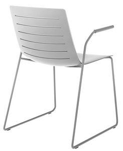 Slim 02A, Silla con brazos ideales para salas de conferencias y salas de reuniones