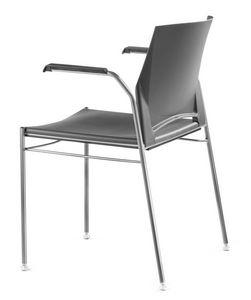 TREK 036, Silla apilable de metal y polímero, con los brazos