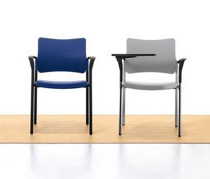 Urban Plastic 02, Silla apilable de metal y polipropileno, para la sala de reuniones