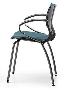 WEBBY 339 S, Nylon y una silla de metal, asiento tapizado, para la conferencia