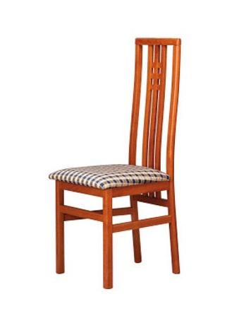 301, Silla con asiento de tela, con respaldo alto listones verticales