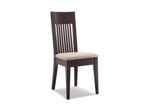 305, Silla con asiento acolchado, respaldo con lamas verticales