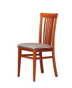 315, Silla para sala de estar, asiento de tela, el respaldo de listones