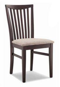 Anna, Silla de madera, con asiento tapizado