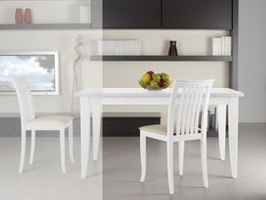Complementos Silla 08, Silla de madera con asiento acolchado y respaldo con lamas verticales