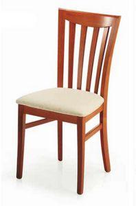 Demetra, Silla con asiento acolchado, para comedor