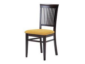 Sirast, Silla de comedor, hecho de madera con asiento tapizado