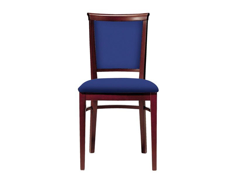 063 3/4, Silla de madera para los comedores, asiento y respaldo tapizados