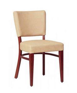 302, Comer silla con estructura de haya, para la sala de estar