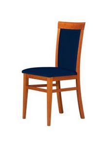 C07, Silla con estructura de madera de haya, asiento y respaldo tapizados