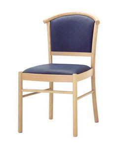 C10, Silla de madera, asiento acolchado y la espalda, para el uso del contrato