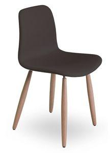 Dama UPW, Silla con patas de haya, asiento y respaldo tapizados