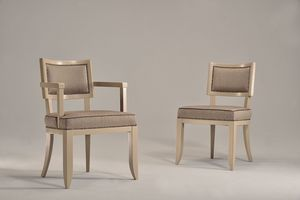 HOLLY silla 8381S, Silla acolchada en madera de haya, para el uso del contrato y el hotel